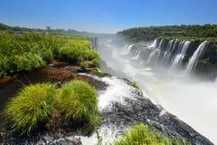 Iguazu falls view from Argentina Stock Photos
