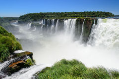 Iguazu falls view from Argentina Royalty Free Stock Photo