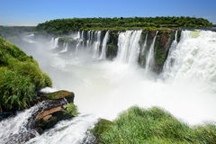 Iguazu falls view from Argentina Stock Photography