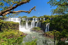Iguazu falls view from Argentina Stock Photo