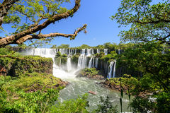 Iguazu falls view from Argentina Stock Photos