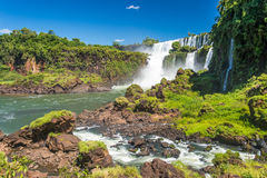 Iguazu falls view from Argentina Royalty Free Stock Photography