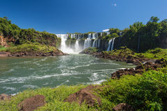 Iguazu falls view from Argentina Stock Photo