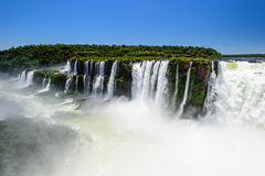Iguazu falls view from Argentina Royalty Free Stock Images