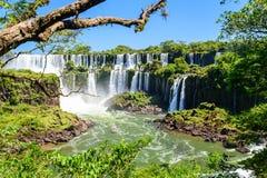 Iguazu falls view from Argentina Royalty Free Stock Photo