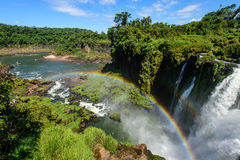 Iguazu falls view from Argentina Royalty Free Stock Photos