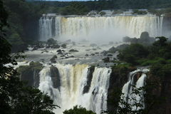 The Iguazu Falls - View from Argentina side Royalty Free Stock Photo