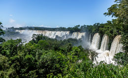 Iguazu Falls view from argentinian side - Brazil and Argentina Border Stock Images