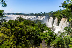 Iguazu Falls view from argentinian side - Brazil and Argentina Border Stock Photo