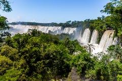 Iguazu Falls view from argentinian side - Brazil and Argentina Border. Iguazu Falls view from argentinian side in Brazil and Argentina Border Stock Photo
