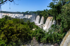 Iguazu Falls view from argentinian side - Brazil and Argentina Border Stock Image
