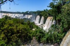 Iguazu Falls view from argentinian side - Brazil and Argentina Border. Iguazu Falls view from argentinian side in Brazil and Argentina Border Stock Image