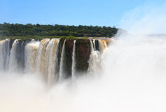 Iguazu falls. View of Brazil from side of Argentina Stock Photography