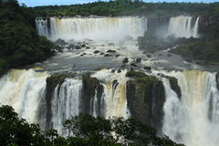 The Iguazu Falls - View from Brazil side Stock Photo
