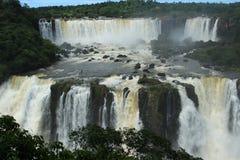The Iguazu Falls - View from Brazil side Stock Photo