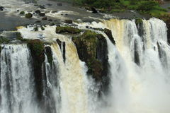 The Iguazu Falls - View from Brazil side Royalty Free Stock Photography