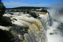 The Iguazu Falls - View from Brazil side Royalty Free Stock Image