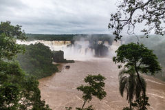 Iguazu Falls view from brazilian side - Brazil and Argentina Border Royalty Free Stock Photos