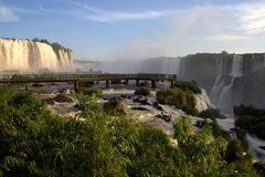 Iguazu Falls Walkway, Brazil Royalty Free Stock Images