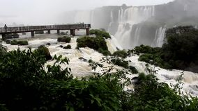 Iguazu Falls,Walkways stock footage