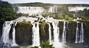 Iguazu falls waterfall brazil stock photo