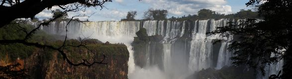 Iguazu Falls waterfall close up views from the Argentinian side.  Royalty Free Stock Image