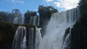 Iguazu Falls waterfall close up views from the Argentinian side.  Stock Images
