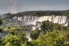 Iguazu falls. Iguazu waterfalls in Argentina Royalty Free Stock Photo