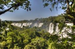 Iguazu falls. Iguazu waterfalls in Puerto Iguazu, Argentina Stock Image