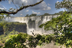 Iguazu falls. Iguazu waterfalls in Puerto Iguazu, Argentina Royalty Free Stock Photo