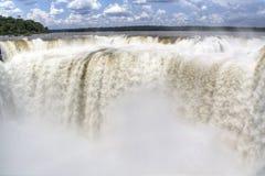 Iguazu falls. Iguazu waterfalls in Puerto Iguazu, Argentina Stock Photo