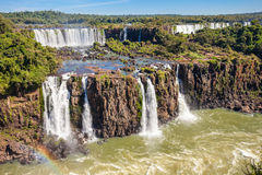 The Iguazu Falls. Iguazu Falls are waterfalls of the Iguazu River on the border of the Argentina and the Brazil. It's one of the New 7 Wonders of Nature on the Royalty Free Stock Photography