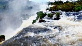 Iguazu ((Iguassu; Iguaçu)) Dalingen, Brazilië stock foto