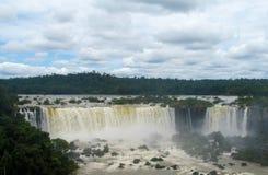 Iguazu (Iguassu) nedgångar Royaltyfri Foto