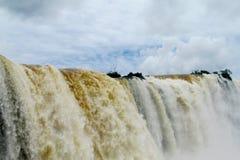 Iguazu (Iguassu) nedgångar Royaltyfri Fotografi