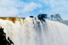 Iguazu (Iguassu) spadki Zdjęcia Stock