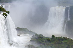 Iguazu. Natural Wonder of the World. The majestic beauty the waterfalls Stock Images