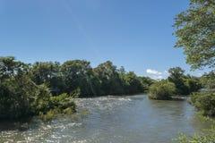 Iguazu Park and Parana River Landscape Royalty Free Stock Photography