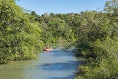 Iguazu Park and Parana River Landscape Stock Images