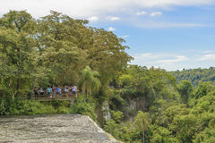 Iguazu Park from the Top of Waterfalls Royalty Free Stock Photography
