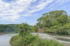 Iguazu Park from the Top of Waterfalls Royalty Free Stock Photos