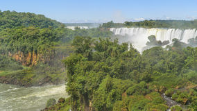 Iguazu Park Waterfall Landscape Aerial View Royalty Free Stock Images