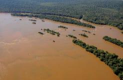 Iguazu river. Stock Photo