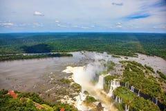 Iguazu River spreads widely Stock Photos