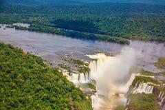 Iguazu rzeka i diabła gardło Zdjęcie Stock