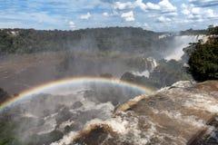Iguazu siklaw widok od Argentyńskiej strony Obraz Stock