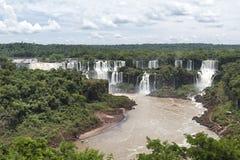 Iguazu siklaw widok od brazylijczyk strony Zdjęcia Royalty Free