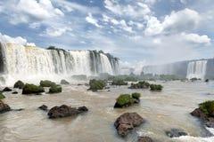 Iguazu siklaw widok od brazylijczyk strony Obrazy Stock