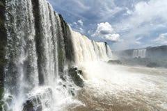 Iguazu siklaw widok od brazylijczyk strony Fotografia Royalty Free