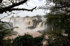 Iguazu spada veiw od Argentina fotografia stock